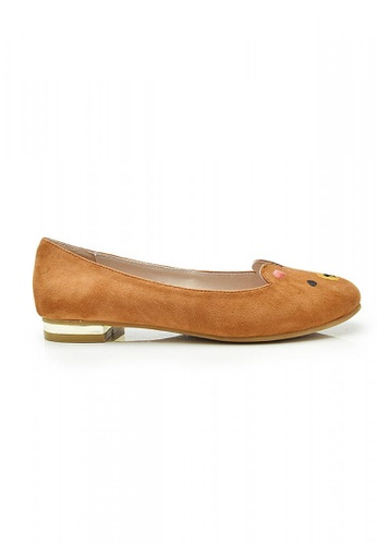 Elisa Litz brown Beary Flats (Brown) EL365SH80ZFBSG_1