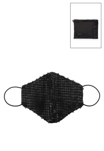 Icons black Matte Sequin Mask 129DCES3D9A978GS_1