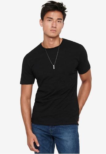 Only & Sons black Albert Life New Short Sleeve T-Shirt 0AE38AA78B729DGS_1