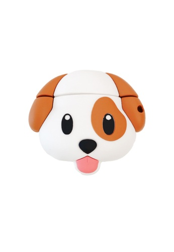 Kings Collection white Cute Puppy AirPods Case (KCAC2064) AE17AACEE37CA9GS_1