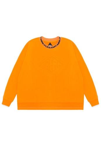 Mini cream orange Emblem embossed sweatshirt 251E7AA7FDFFD4GS_1