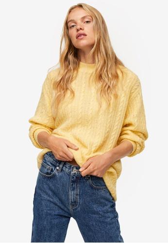 Mango yellow Oversize Knit Sweater B40C1AA6A7AD93GS_1