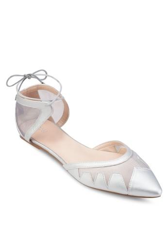 esprit香港門市網紗尖頭平底鞋, 女鞋, 鞋