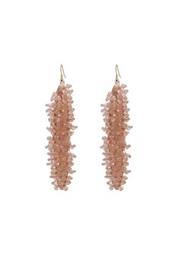Mango pink Crystal Beads Earrings 39296AC05E9CF7GS_1
