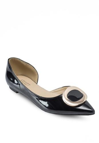 Nelesprit tote baglie Basic Buckle D'Orsay Flats, 女鞋, 鞋