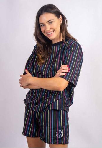 Orlin Orlin Lia Stripe Black Tshirt 25BCEAA3A43CCEGS_1