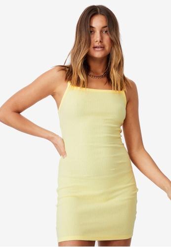 Supre yellow Emery Rib Mini Dress 037C4AA44C8006GS_1