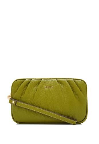 BONIA green Mustard Sierra Pouch CB7DBACB75F4E8GS_1