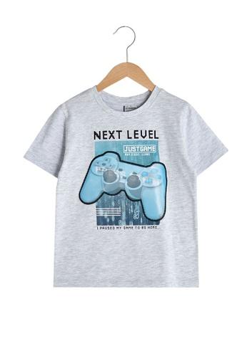 LC Waikiki grey Boy's Cotton T-Shirt 81B67KA46ECC34GS_1