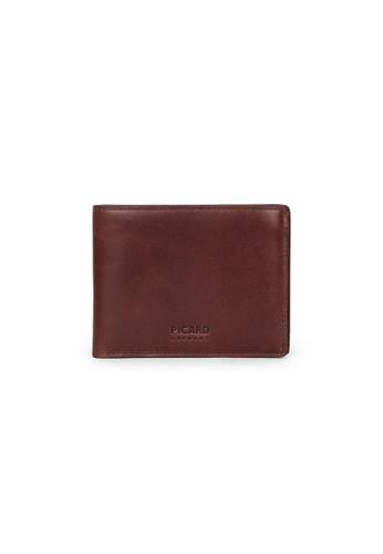 Picard brown Picard Teuer Slim Bifold Wallet 9831BAC49FECB1GS_1