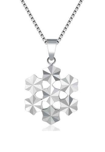 MaBelle silver 14K/585 White Color Gold Pendant Multi Stars Necklace 34877ACD9C38CEGS_1