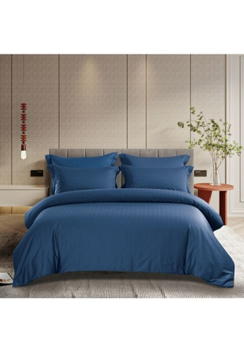 Epitex blue Epitex Supima Cotton 1200TC Bedsheet - Fitted Sheet Set - w/o quilt cover (Nude) E48F6HL0C31A92GS_1