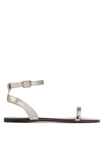 Velvet gold Skinny Strap Ankle Sandals F5D13SH479E9AAGS_1