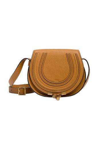Chloé brown Chloe Mini Marcie Crossbody Bag in Autumnal Brown 73240AC1DFD9E5GS_1