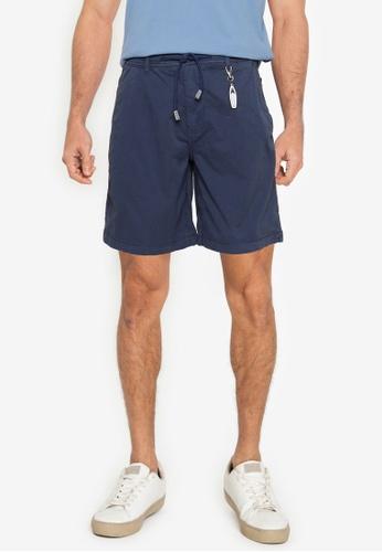 Springfield blue Beach Bermuda Shorts With Key Ring EE015AA91A7F6FGS_1