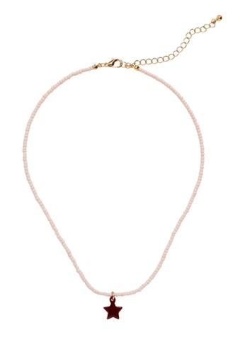MANGO KIDS pink Star Pendant Necklace 04B60KC300CF5CGS_1