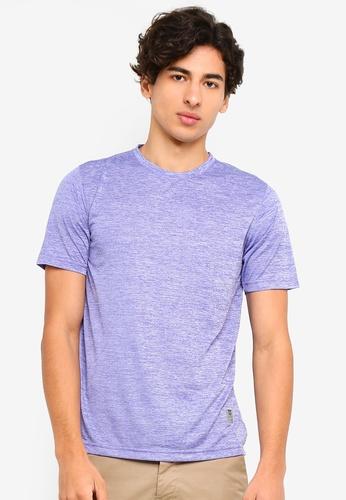 UniqTee 紫色 Slim 圓領T恤 3E768AA6E50179GS_1