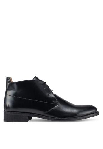 Carlton London black Lace Up Dress Shoes DC1E7SH9CE2DDCGS_1