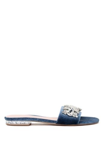 London Rag 藍色 LONDON RAG 女式蓝色平底露趾拖鞋 6DB77SHED86B51GS_1