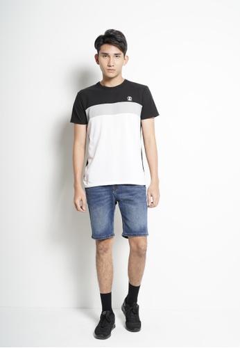 SUB black Men Color Block Short-Sleeve T-Shirt 0CA7CAA6490505GS_1