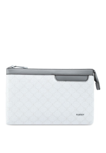 Playboy white Playboy Clutch Bag 6EF1BAC2ABAAAAGS_1