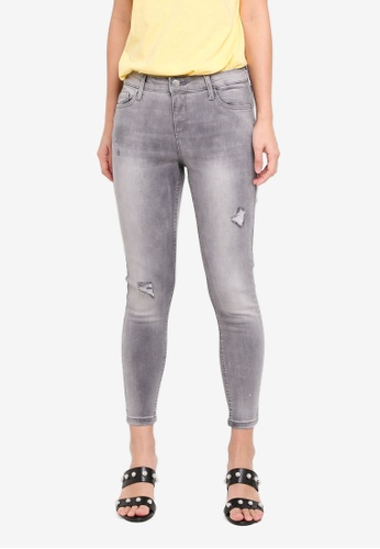 Dorothy Perkins grey Silver Darcy Ankle Grazer Jeans DF68DAA33F4C9BGS_1