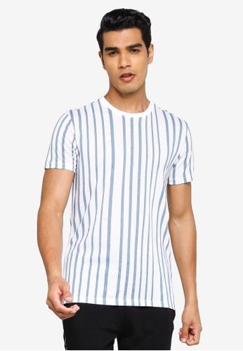 KOTON blue Striped T-Shirt 7FA26AAB8F0A0AGS_1