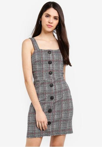 River Island multi Checkered Button Up Pinafore Mini Dress B14FAAAEA996A6GS_1