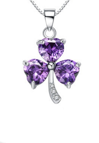 LYCKA purple and silver LPP88165 S925 Silver Necklace ECFFFAC24A3AAEGS_1