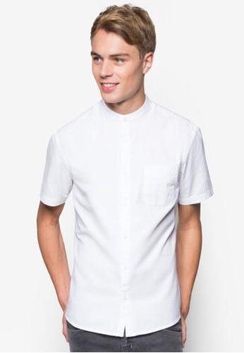 素色牛esprit 香港津短袖襯衫, 服飾, 襯衫