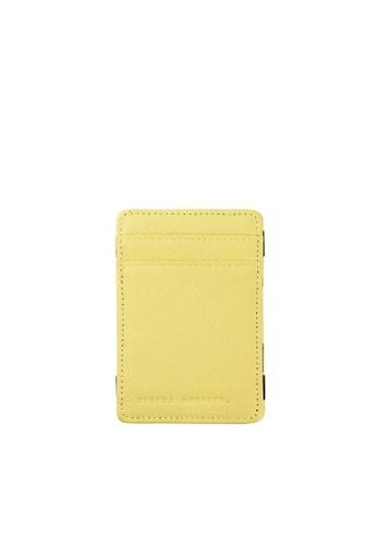 3097109ac9da Status Anxiety yellow Status Anxiety Soft Calf Leather Flip Money Card  Holder Wallet - Acid D19D1ACF06A421GS 1
