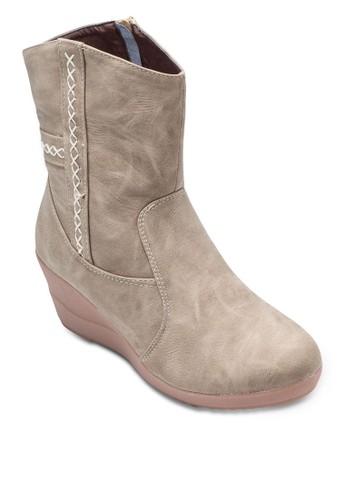 Kzalora 手錶ira 楔形中筒靴, 女鞋, 鞋