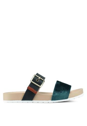 Bata 綠色 絲絨繞帶涼鞋 1E969SH059D3DDGS_1