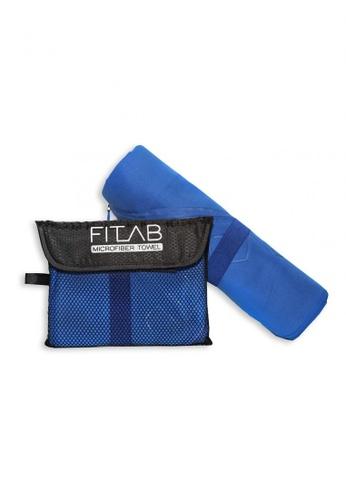 Fitlab blue Microfiber Sports Towel 9D547HL9181D93GS_1