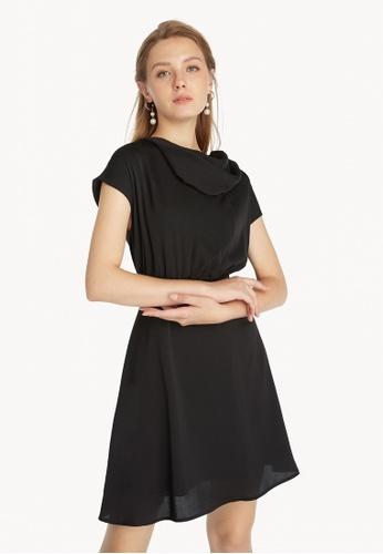 Pomelo black Cowl Neck Dress - Black D48D2AA4A52FF4GS_1