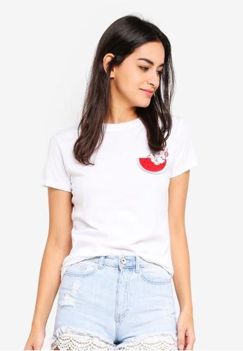 6IXTY8IGHT white Watermelon Juice T-Shirt 37A44AA5B7F142GS_1