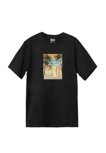 BSX black BSX Unisex's regular fit printed tee - Retro surf (Online exclusive) (0409024666) 4027DAA4ECCE35GS_1