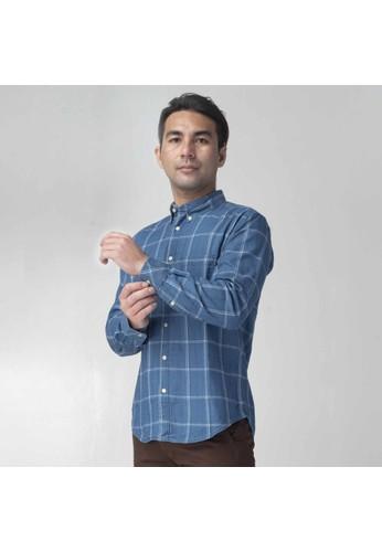 SCOTCH&CO SCOTCHCO Kemeja Jeans Pria Lengan Panjang Indigo Denim Shirt Biru Terang 16427-32274 38BC5AA073A4C0GS_1