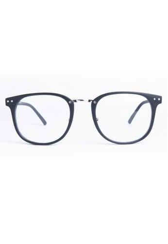 Kyfer's Eyewear & Essentials black Vintage Double Rivet Oversize Eyewear (Matt) KY376AC55RXKSG_1