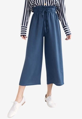 Tokichoi blue Paperbag Pants with Tie Front 3E6D2AA2D93E50GS_1