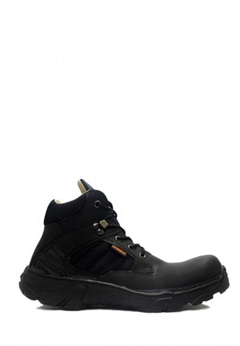 Cut Engineer black Cut Engineer Safety Tactikal Boots Iron Suede Leather Black 038E0SHB8B0531GS_1