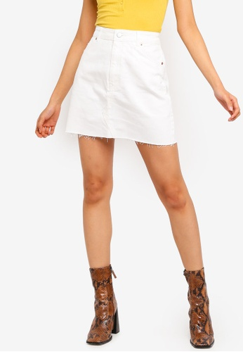 fe550fd2d5 Buy TOPSHOP White Denim Mini Skirt Online | ZALORA Malaysia