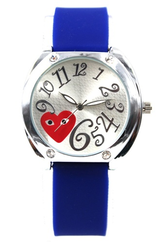 World of Watches blue Play Curly Number  Silicon Stap Watch 1087G WO566AC80DWXPH_1