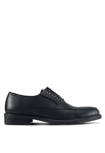 ZALORA black Closed Lace Oxford Shoes 81A6FSHB4E771FGS_1