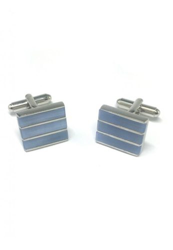 Splice Cufflinks blue Blue 3 Sections Cufflinks SP744AC54FRPSG_1