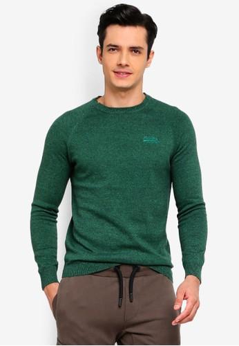 Superdry green Orange Label Cotton Crew Sweater 5E34FAAD62C09EGS_1