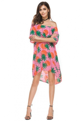 2b944cead90f Buy LOVENGIFTS Tropical Summer Pineapple Short Dress Online