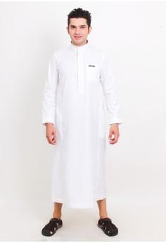 NextUp White Gamis Lengan Panjang NF007 Polos