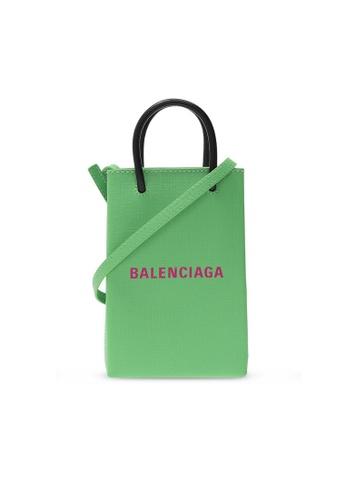 Balenciaga green Balenciaga Shopping Phone Crossbody Bag in Green ADD69AC08ED3CFGS_1