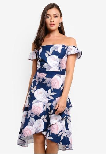 CHI CHI LONDON blue Marabel Dress AD48CAA7F80B00GS_1
